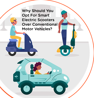 WHY SHOULD YOU OPT FOR SMART ELECTRIC SCOOTERS OVER CONVENTIONAL MOTOR VEHICLES?